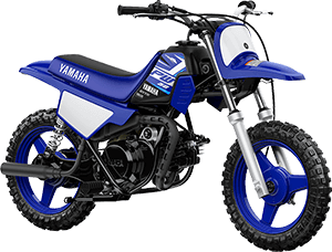 2020 PW50 YamahaBlue right front three quarter thumbnail