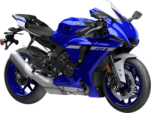 2020 YZF R1 YamahaBlue right front three quarter thumbnail