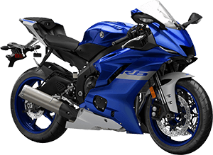 2020 YZF R6 YamahaBlue right front three quarter thumbnail
