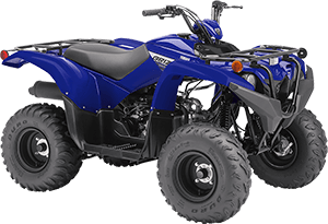 2020 Grizzly 90 Yamaha Blue right front three quarter thumbnail